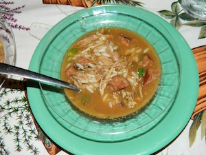 Duck and Andouille Gumbo