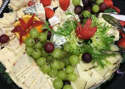 Imported cheese platter
